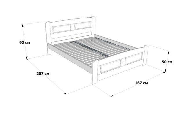 Двоспальне ліжко Афродіта схема та розміри