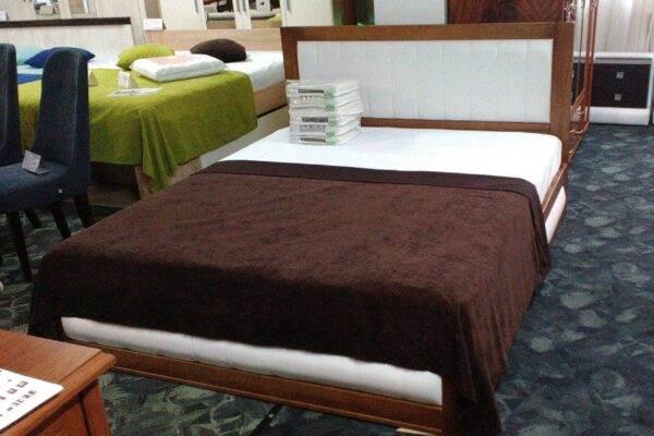 Двоспальне ліжко Амелія з тканиною ціна