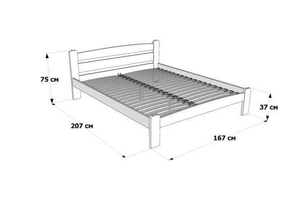 Двоспальне ліжко Дональд схема та розміри
