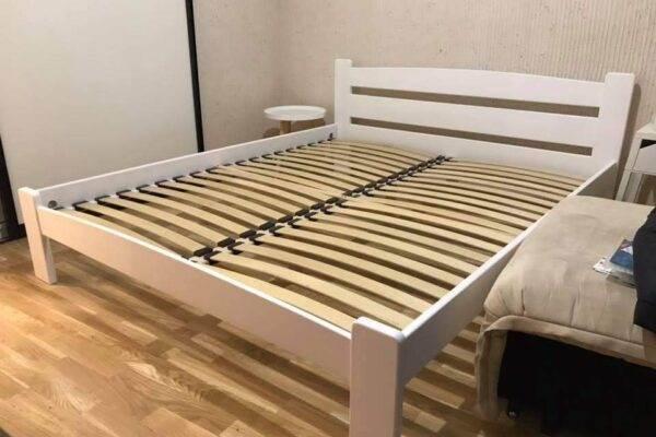 Двоспальне ліжко Дональд у білому кольорі фото