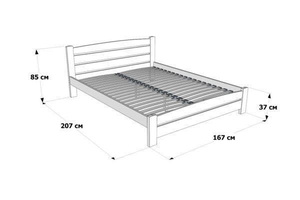 Двоспальне ліжко Дональд Максі схема та розміри