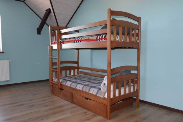 Двоярусне ліжко з шухлядами Бембі замовити