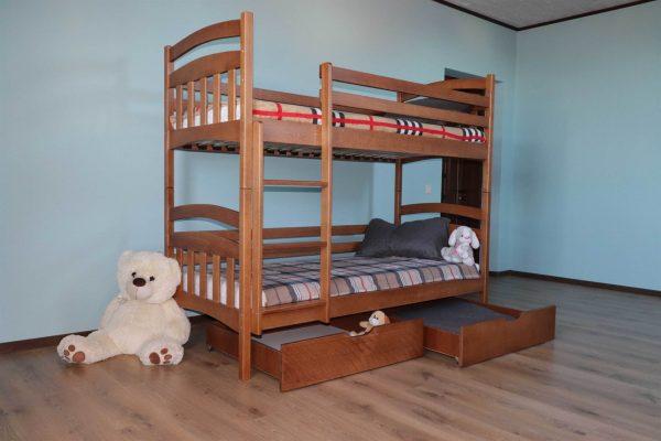 Двоярусне ліжко з ящиками Бембі купити