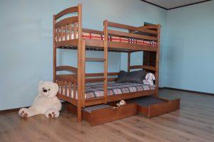 Двоярусне ліжко з матрацами та шухлядами Бембі купити