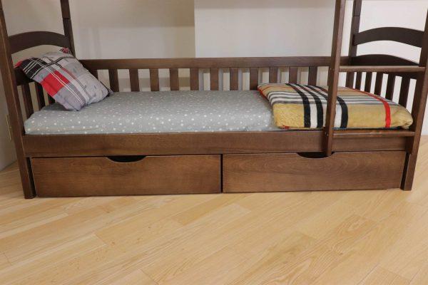 Двоповерхове ліжко Білосніжка з шухлядами замовити