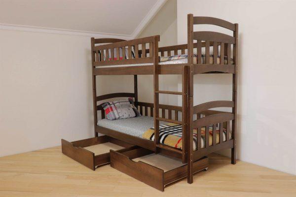 Двоповерхове ліжко Білосніжка з шухлядами купити