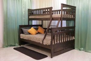 Двоярусне ліжко сімейне для трьох Русалонька купити