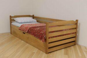 Одноярусне дитяче ліжко Котигорошко з ящиком замовити
