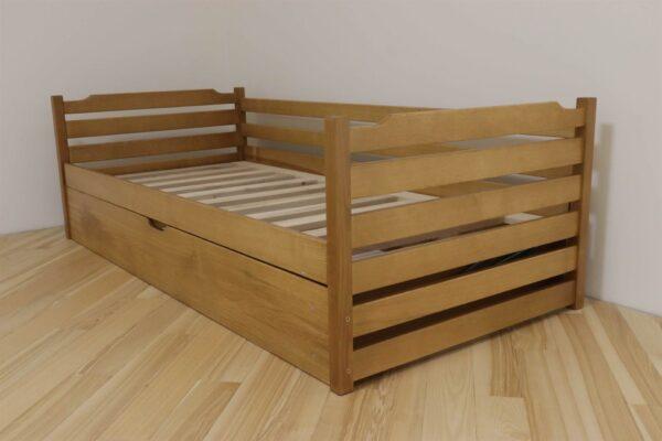 Одноярусне дитяче ліжко з ящиком Котигорошко замовити