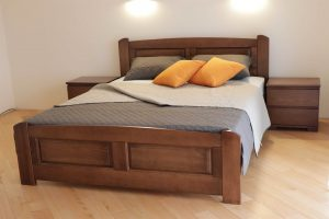Двоспальне ліжко з дерева Афродіта виробника Дрімка