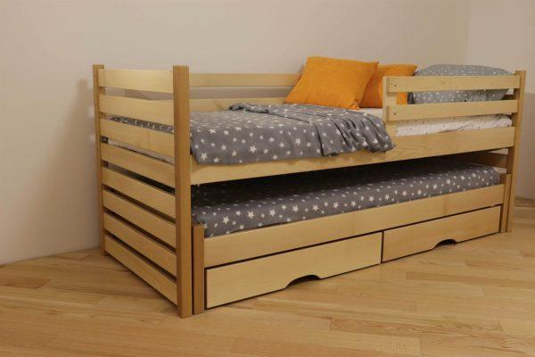 Одноярусне ліжко з виїзним Сімба від фабрики Дрімка замовити