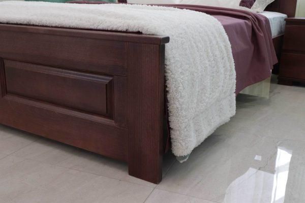 Двоспальне ліжко з дерева Клеопатра фото