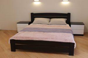 Двоспальне ліжко Дональд Максі та приліжкові тумби з дерева