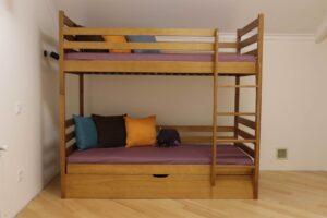 Двоярусне ліжко з підйомним механізмом Шрек купити