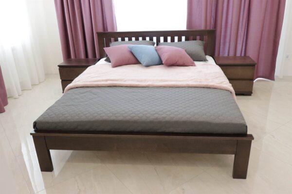 Ліжко Жасмін з низьким узніжжям з дерева купити