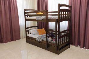 Двоярусне ліжко зпідйомним механізмом Бембі купити
