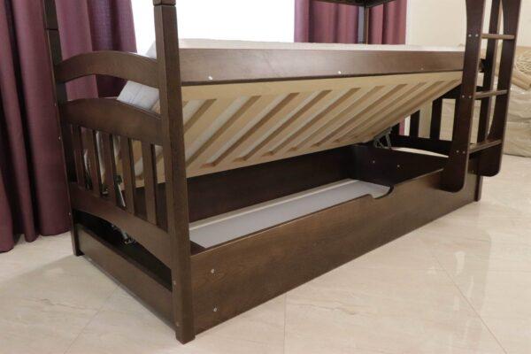 Двоярусне ліжко з підйомним мехнанізмом Бембі фото