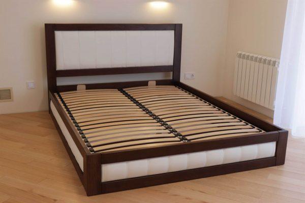 Двоспальне ліжко із тканиною та підйомним механізмом Амелія фото