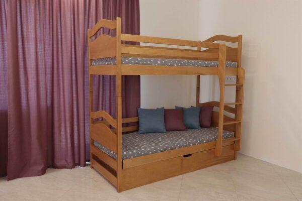 Двоярусне ліжко з підйомником Вінні Пух купити