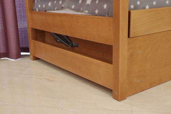 Дерев'яне ліжко з підйомним механізмом