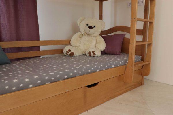 Натуральне дитяче ліжко з дерева Вінні Пух виробник Дрімка замовити