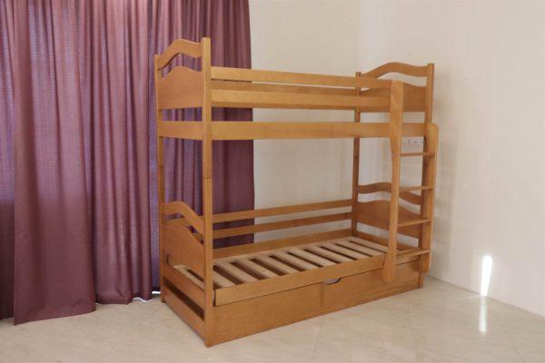 Двоярусне ліжко з нішою Вінні Пух купити