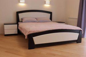 Двоспальне ліжко Женева з приліжковими тумбами фото