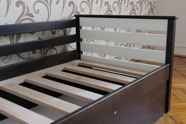 Одноярусне ліжко з дерева Телесик
