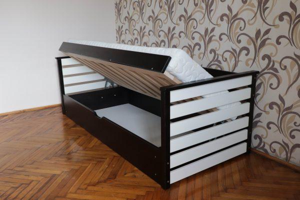 Одноярусне ліжко дитяче Телесик з підйомним механізмом