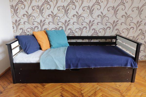 Одноярусне ліжко з дерева Телесик з нішею