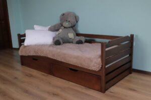 Одноярусне дитяче ліжко з шухлядами Котигорошко фото