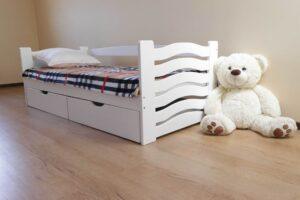 Односпальне біле ліжко для дитики Міккі Маус Купити Дрімка