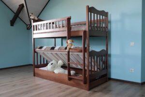 Двоярусне ліжко з підйомним механізмом Рукавичка замовити