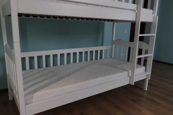 Двоярусне ліжко Рукавичка для дітей з матрацами