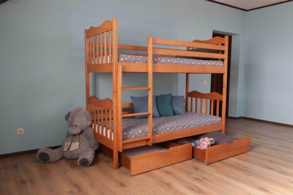 """Двоярусне ліжко з шухлядами """"Мауглі"""" ціна"""