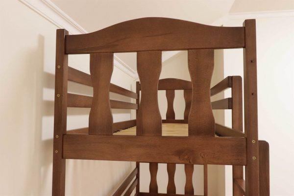 Двоярусне ліжко з дерева для дітей Сонька