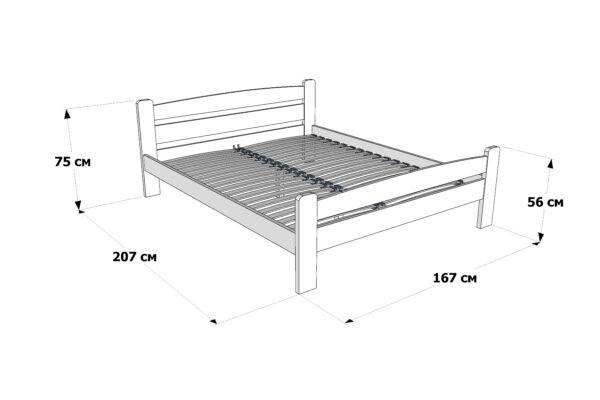 Двоспальне ліжко Каспер схема та розміри