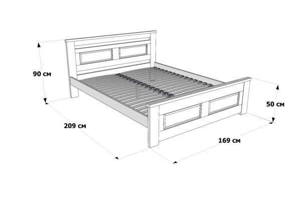 Двоспальне ліжко Клеопатра схема та розміри