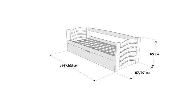 Односпальне ліжко з підйомним механізмом Міккі Маус