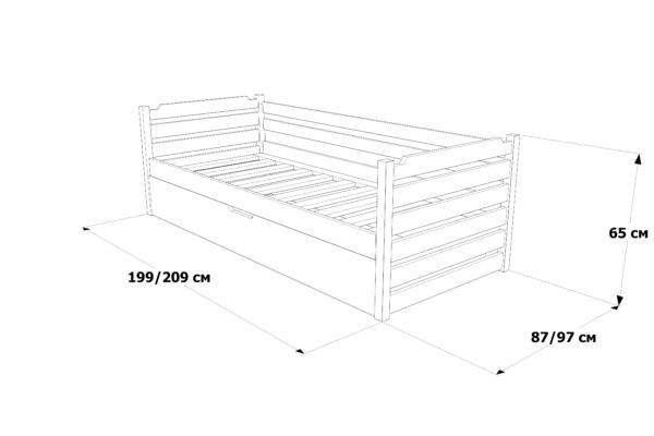 Одноярусне ліжко з підйомним механізмом Котигорошко схема та розміри