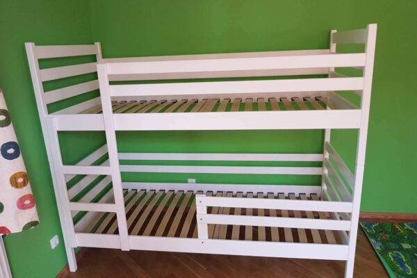 Двоярусне біле ліжко Шрек купити