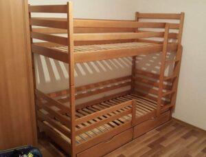 Двоповерхове ліжко дитяче Шрек з бортиком