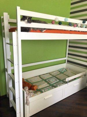Двоярусне ліжко Шрек Горище з котом