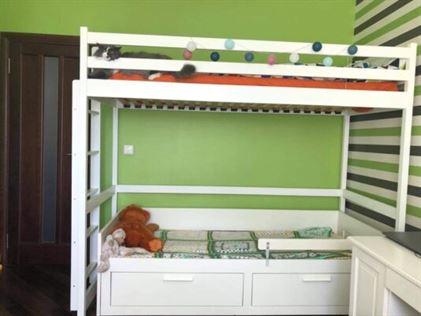 Двоярусне ліжко Шрек Горище у білому кольорі