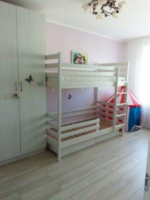 Двоповерхове ліжко Шрек у білому кольорі доставка