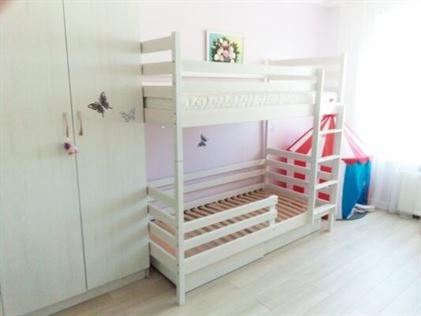Двоярусне ліжко Шрек у білому кольорі фото
