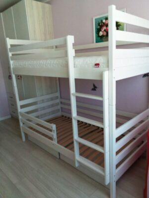 Двоярусне ліжко Шрек у білому кольорі замовити