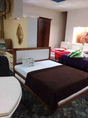 Двоспальне ліжко з тканиною Амелія