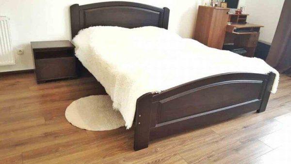 Дерев'яне двоспальне ліжко Едель доставка