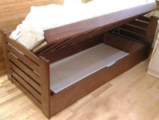 Ліжко з ящиком Карлсон дерев'яний
